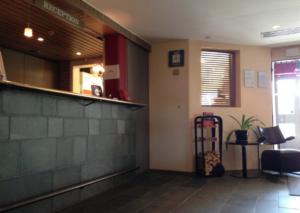 Krapi hotel reception with Fleimio trolley