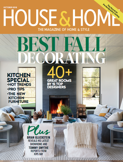 Cover of the House & Home magazine CAN USA 10/2018