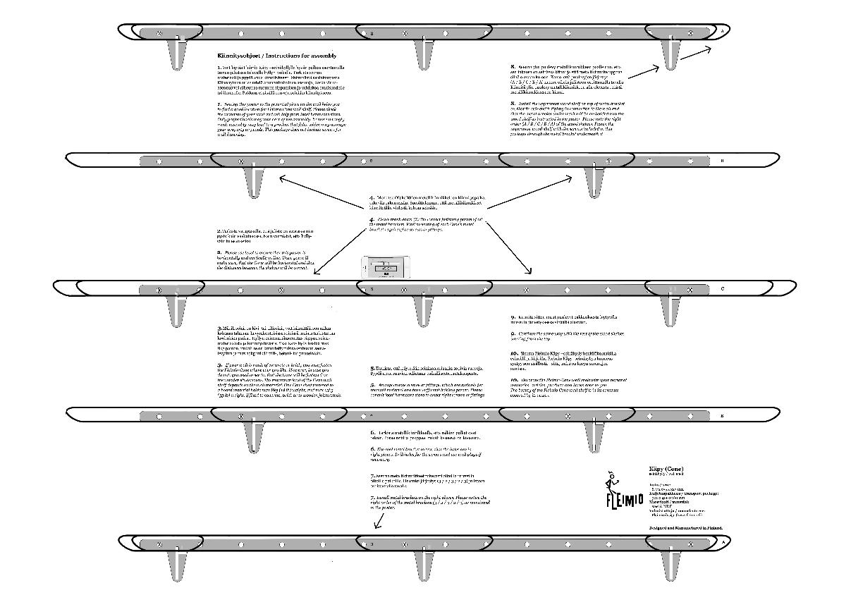 fleimio - käpy - pine cone shelf - asennus - assembly instructions