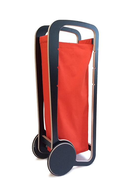 orange fleimio bag in fleimio trolley