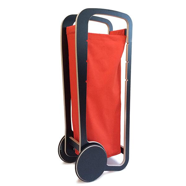 fleimio design trolley - black with orange bag