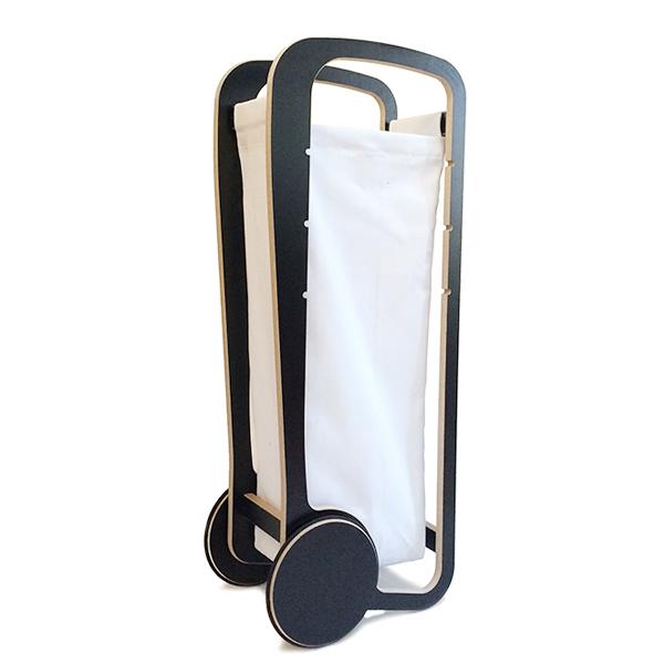 fleimio design trolley -black - with white bag