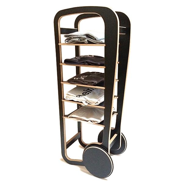 fleimio design original trolley - black with clothes