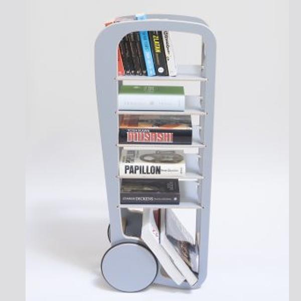 fleimio design original trolley - grey with books