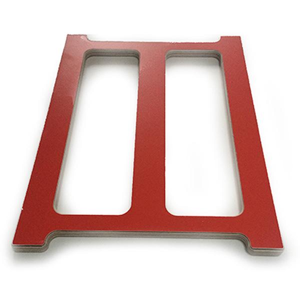 fleimio design - wine shelf - red