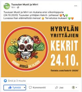 Musti ja Mirri facebook Kekri